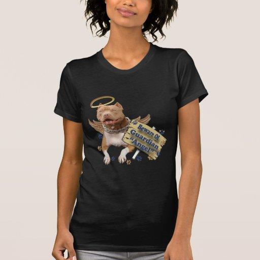 Pitbull se guarda de ángel de guarda t shirts
