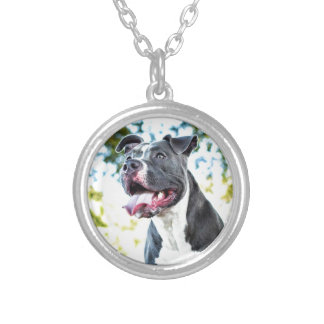 Pitbull Silver Plated Necklace