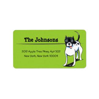 PitBull Staffordshire Terrier Custom Color Labels