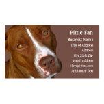 Pitbull Terrier #2 - tarjeta de visita de la foto