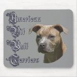 Pitbull Terrier americano (APBT) Mousepad Alfombrilla De Raton