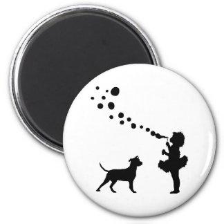 Pitbull Terrier americano Imán Redondo 5 Cm