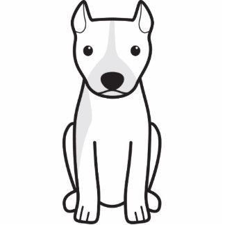 Pitbull Terrier americano (oídos cosechados) Escultura Fotografica