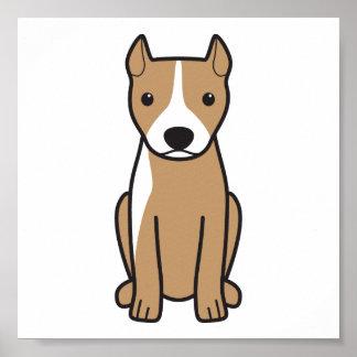 Pitbull Terrier americano (oídos cosechados) Poster