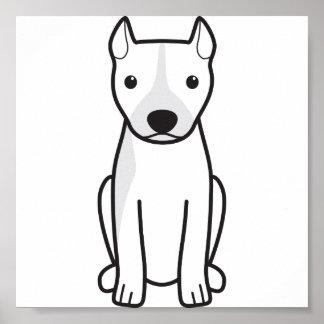 Pitbull Terrier americano (oídos cosechados) Posters