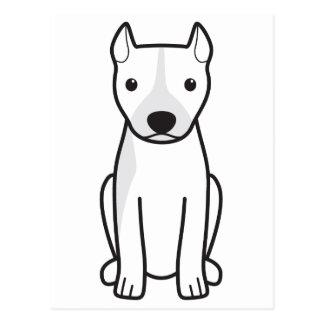 Pitbull Terrier americano (oídos cosechados) Postal