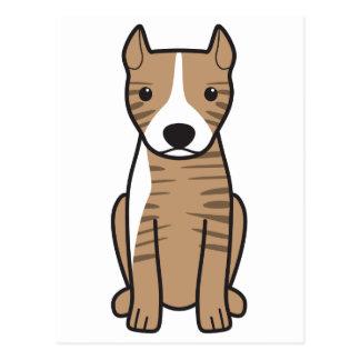 Pitbull Terrier americano (oídos cosechados) Postales