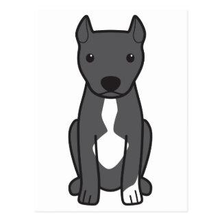 Pitbull Terrier americano (oídos cosechados) Tarjetas Postales