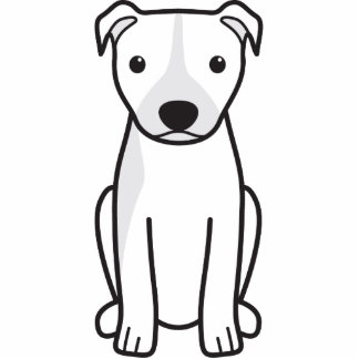 Pitbull Terrier americano (oídos naturales) Esculturas Fotograficas