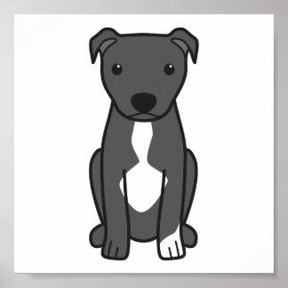 Pitbull Terrier americano (oídos naturales) Poster