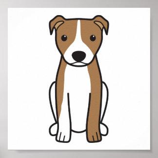 Pitbull Terrier americano (oídos naturales) Póster