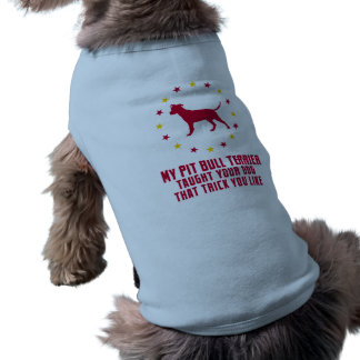 Pitbull Terrier americano Playera Sin Mangas Para Perro