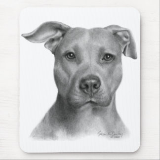 Pitbull Terrier americano Tapete De Ratón