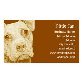 Pitbull Terrier Brown - tarjeta de visita