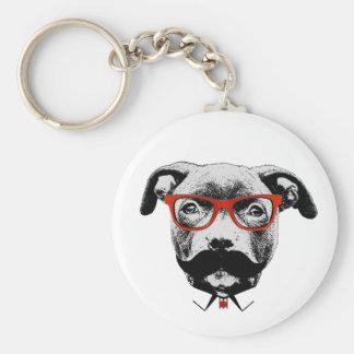 Pitbull Terrier del inconformista Llavero Redondo Tipo Pin
