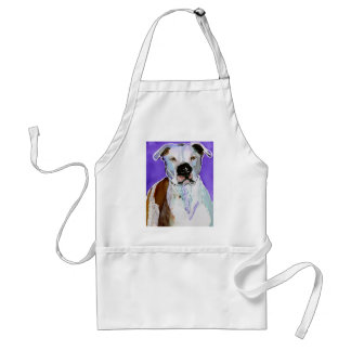 Pitbull Terrier Dog Alcohol Ink Art Painting Adult Apron
