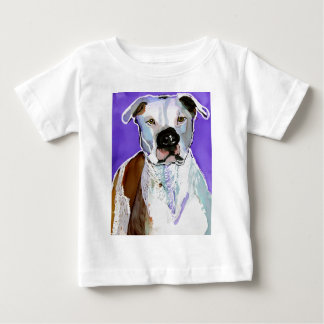 Pitbull Terrier Dog Alcohol Ink Art Painting Baby T-Shirt