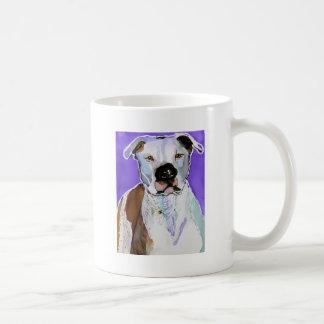 Pitbull Terrier Dog Alcohol Ink Art Painting Classic White Coffee Mug