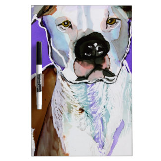 Pitbull Terrier Dog Alcohol Ink Art Painting Dry-Erase Whiteboards