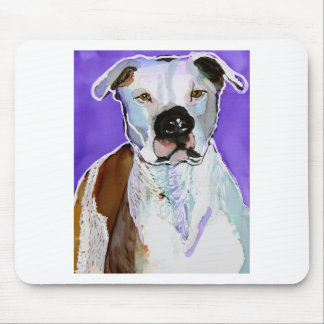 Pitbull Terrier Dog Alcohol Ink Art Painting Mousepads