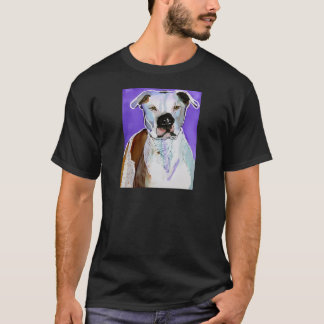 Pitbull Terrier Dog Alcohol Ink Art Painting T-Shirt
