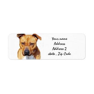 Pitbull Terrier Etiqueta De Remite