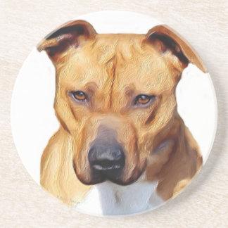 Pitbull Terrier Sandstone Coaster