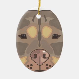 Pitbull vector ceramic ornament