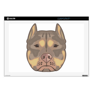 "Pitbull vector decal for 17"" laptop"