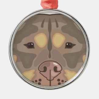 Pitbull vector metal ornament
