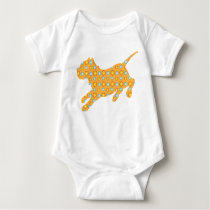 Pitbull with Flower Pattern Baby Shirt