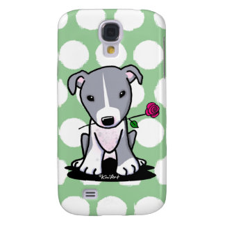 Pitbull With Flower Samsung Galaxy S4 Case