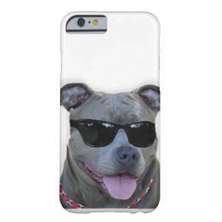 Pitbull with glasses barely there iPhone 6 case