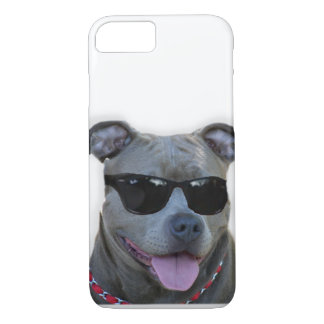 Pitbull with glasses iPhone 7 case