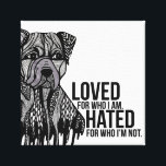 """Pitbull with Text Canvas Print<br><div class=""""desc"""">Pitbull with Text</div>"""