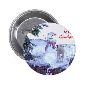 Pitbull y navidad del muñeco de nieve pins