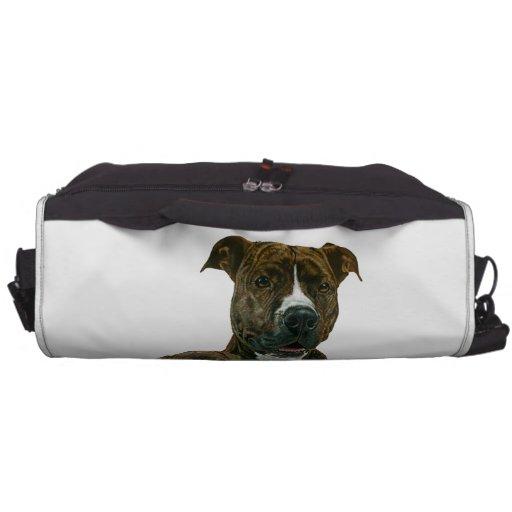 Pitbull y perrito viejos exclusivos del santuario  bolsas para portátil