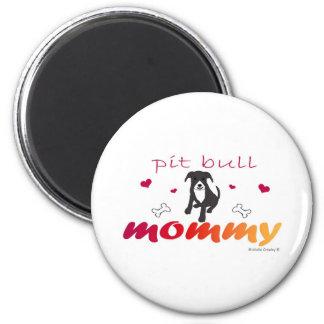 PitBullBlkWtMommy Magnets