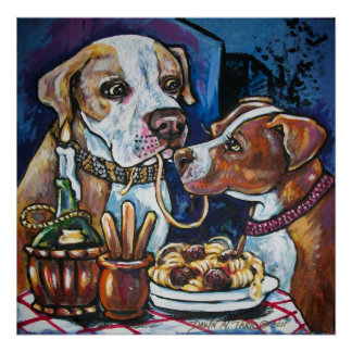 pitbulls and spaghetti poster