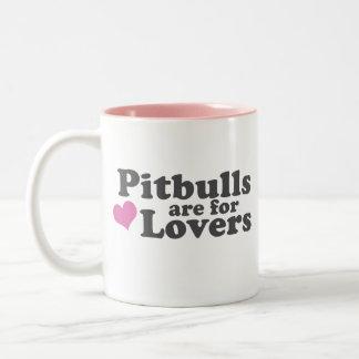 Pitbulls are for Lovers Two-Tone Coffee Mug