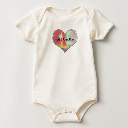 pitbulls baby bodysuit