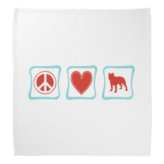 Pitbulls del amor de la paz bandana