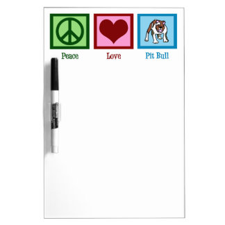 Pitbulls del amor de la paz pizarras blancas de calidad