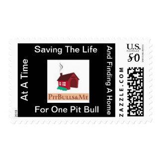 PitBulls & Me Postage Stamp