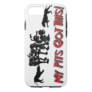 Pitbulls vs. Zombies Funny Logo Design I Phone Cas iPhone 7 Case