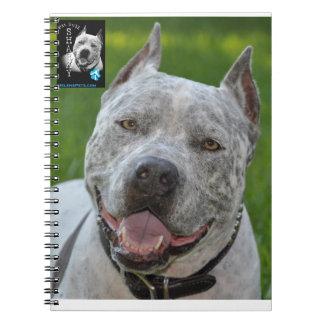 @PitBullSharky Notebook! Happy Pit Bull Smile Face Notebook