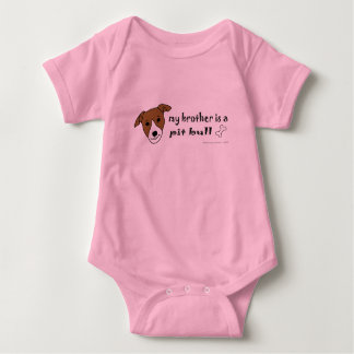 PitBullTanWhiteBrother Baby Bodysuit