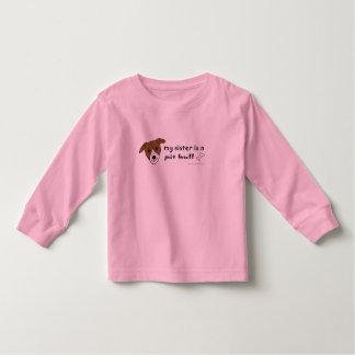 PitBullTanWhiteSister Toddler T-shirt