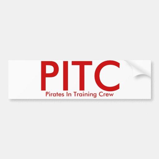 PITC, piratas en equipo de entrenamiento Pegatina De Parachoque