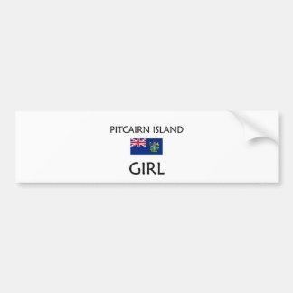 PITCAIRN ISLAND GIRL BUMPER STICKER